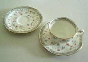 Vintage Noritake Hana Sarasa Cup & 2 Saucers
