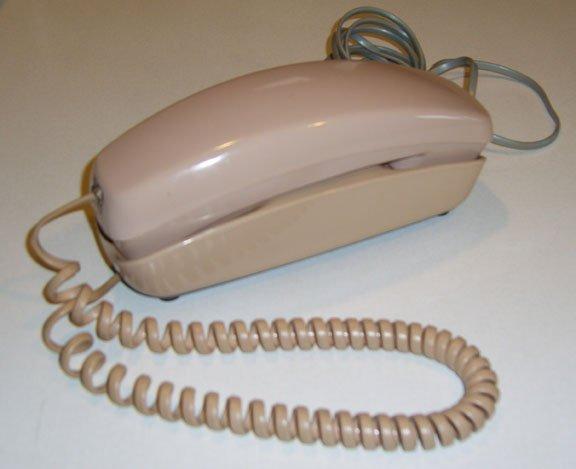 AT&TTrimline220ADRotaryCordedDeskTelephonecirca1978 sold 8.22.10