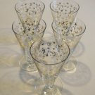 Vintage 22kt Gold Cocktail Glasses - set of 7