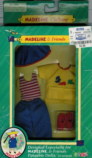 Eden Toys 2000 Madeline & Friends Clothing Arts n' Crafts NIB
