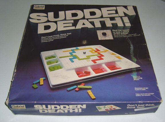 Vintage 1978 Gabriel Sudden Death! Game