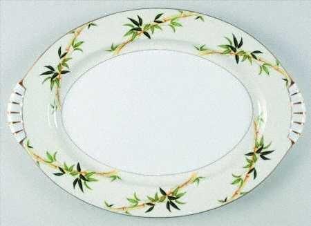 "Vintage Kent China Bali Hai 15"" Oval Serving Platter MIJ"