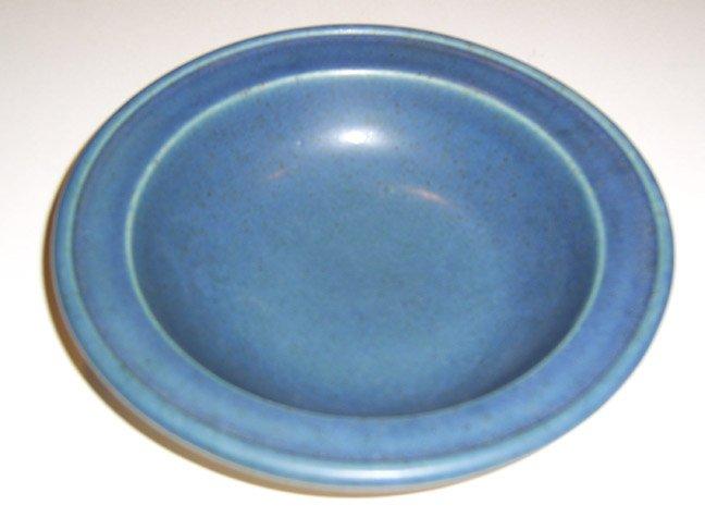 Bennington Potters Stoneware Rimmed Soup | Pasta Bowls #1961 - Dark Blue Set of 2