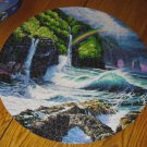 "Ceaco 1997 Christian Riese Lassen - Falls of Hana #2930-5 - 750 Pc. 24"" Round Jigsaw Puzzle"