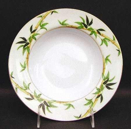 Vintage Kent China Bali Hai Rimmed Soup Bowl MIJ Set of 2