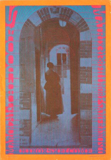 Original Neon Rose 1967 Doors at the Matrix Poster