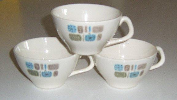 Vintage Canonsburg Temporama Cup (no saucer) Set of 3 - Mid Century Modern