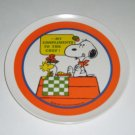"Charles Schulz' Snoopy & Woodstock ""My compliments to the chef!"" Dinner Plate - 1965"