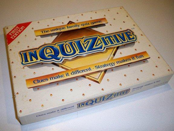 Vintage 1984 Alpha Games Intl InQUIZitive Game