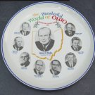 Vintage 1966 Wonderful World of Ohio Commemorative Ceramic Plate