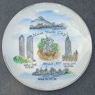 Vintage 1970s Souvenir New York City Handpainted Plate MIJ