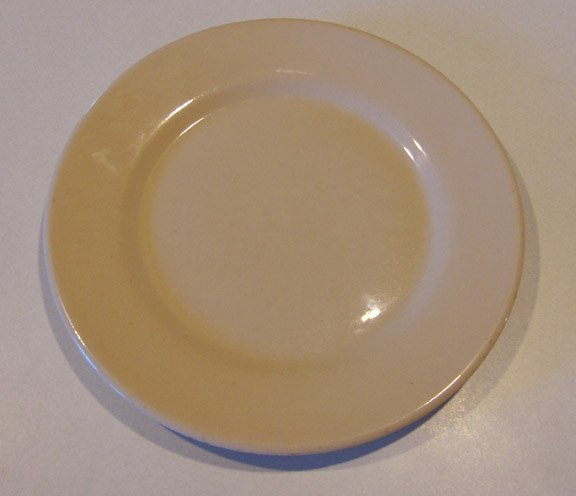 Vintage Wellsville China Desert Tan Restaurant Ware Dinner Plate - Set of 3
