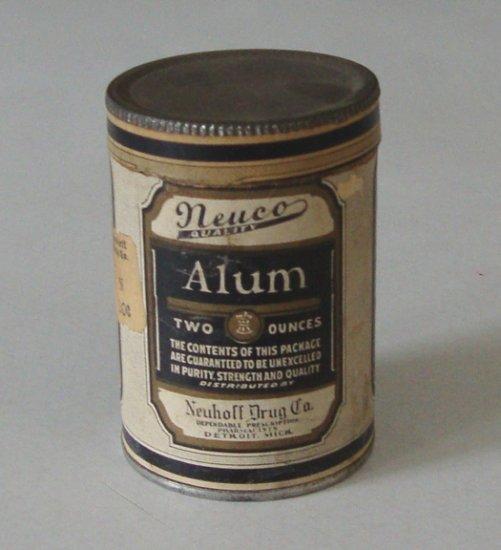 Vintage Neuco Quality Alum Powder Canister 2 oz (used)