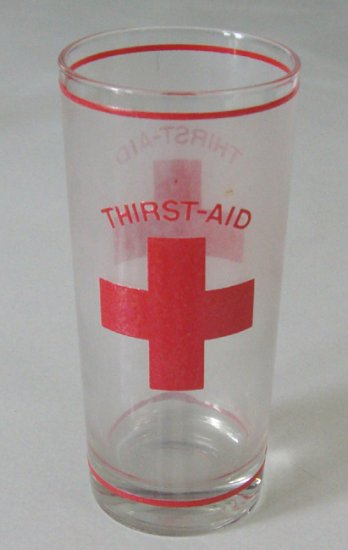 Vintage Culver Ltd Thirst-Aid Frosted Glass Tumbler Set of 4