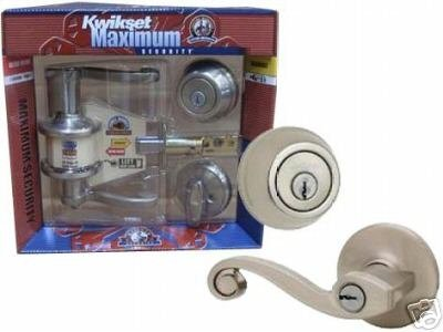 Kwikset Lido Combo Pack Satin Nickel - Keyed Entry BONUS PACKAGE - Left Hand