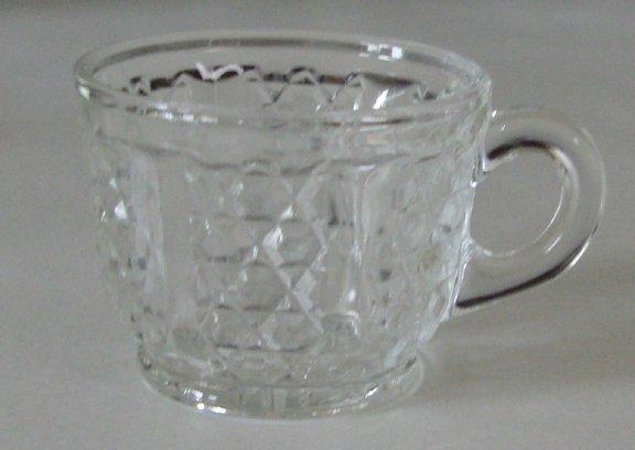 Vintage Duncan & Sons EAPG Punch Cup Button Panel aka Diamond Crystal or Rainbow Variant