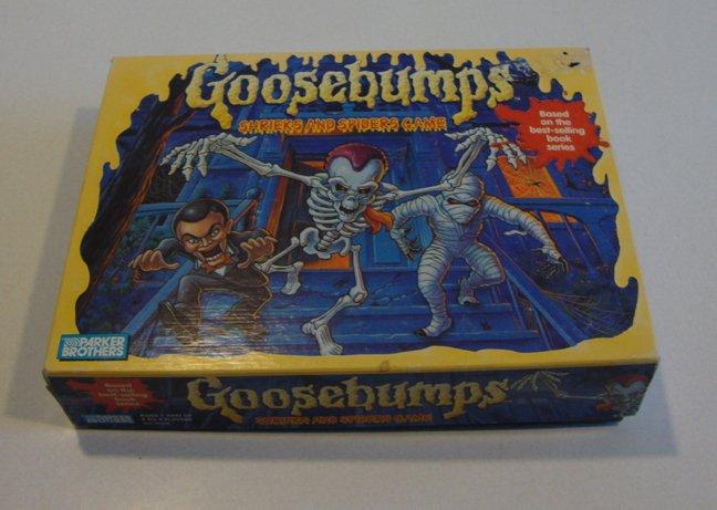 Vintage Milton Bradley 1995 Goosebumps - Shrieks and Spiders Board Game