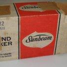 Retro Original Sunbeam Hand Mixer Avocado Green 3-12 in orig. box