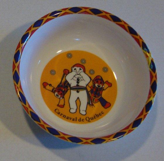 Souvenir Carnaval de Quebec Melamine Cereal or Dessert Bowl Set of 2