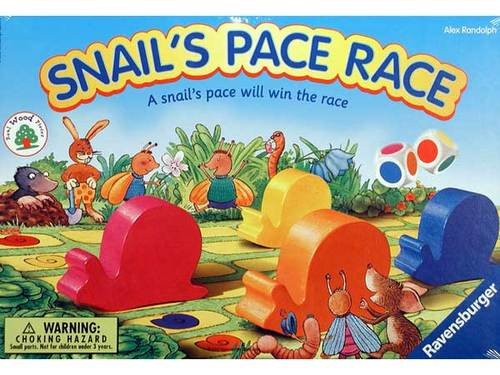 2002 Ravensburger Snail's Pace Race Board Game
