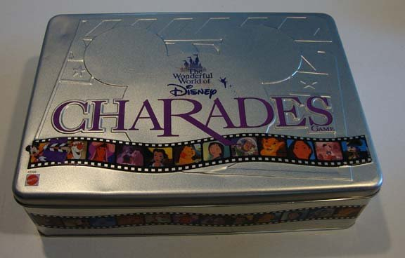 1999 Mattel Wonderful World of Disney Charades Game Tin
