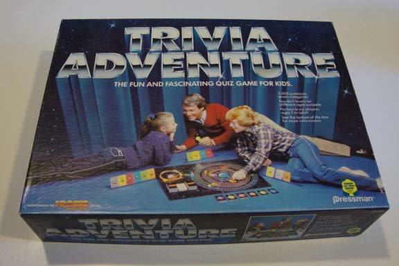 Vintage 1983 Pressman Trivia Adventure Board Game