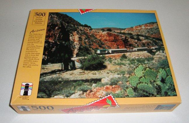 Vintage 1993 The Rainbow Works Arizona 500 Piece Puzzle MIB