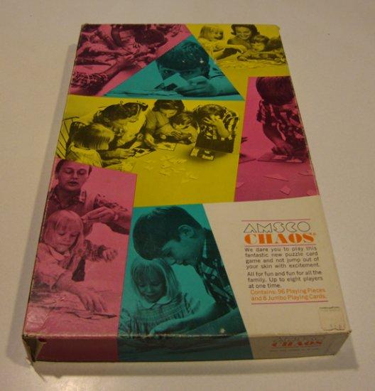Vintage 1965 Amsco Chaos Educational Game #1925