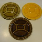 Vintage Fondue Plate Digoin Sarreguemines France - Set of 3