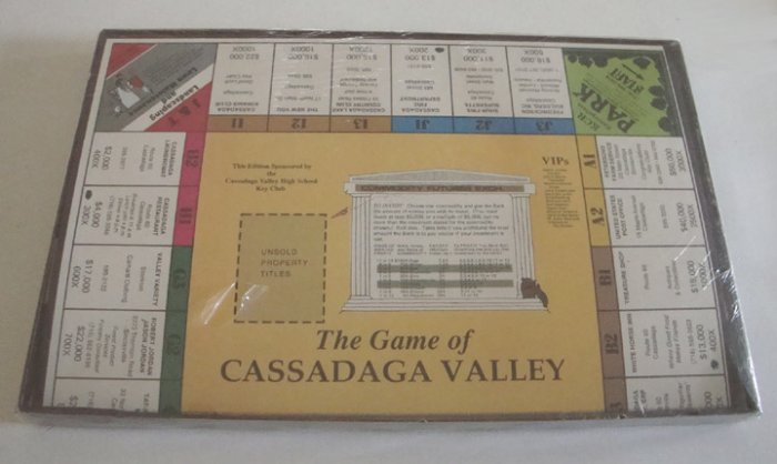 Vintage 1980s Michael Glenn Productions Game of Cassadaga Valley MIB