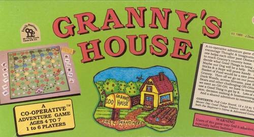 Vintage 1985 Family Pastimes Granny's House Board Game