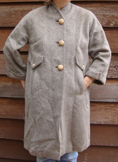 Vintage 1950s Forstmann Wool Heather Coat