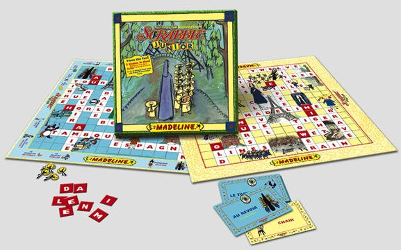 Vintage 1999 USAopoly Madeline Scrabble Junior Game