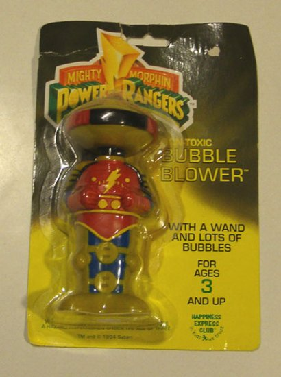 Vintage 1994 Power Rangers Alpha 5 Bubble Blower in Orig Package