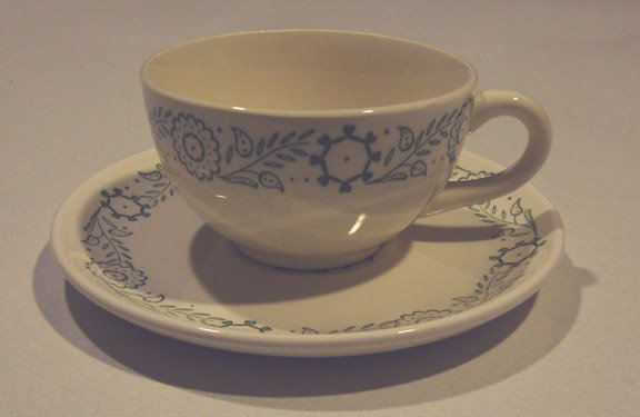 Vintage 1960s Scio Provincial Cup and Saucer Set of 2