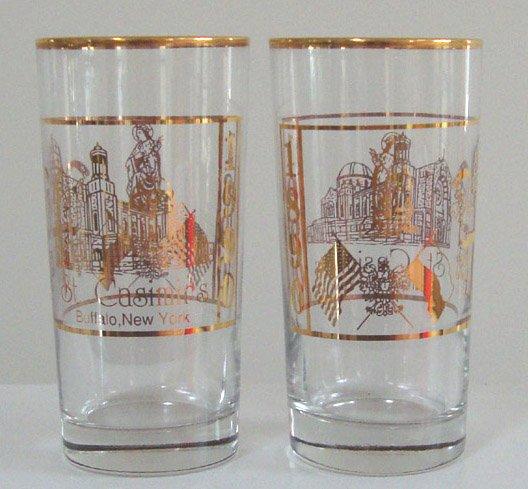 Vintage 1990 St. Casimir's Church 100th Anniversary Glass Tumbler - Set of 2