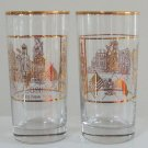 Vintage 1990 St. Casimir's Church 100th Anniversary Glass Tumbler - Set of 2