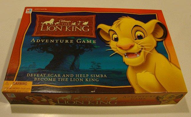 Milton Bradley 2003 The Lion King Adventure Board Game