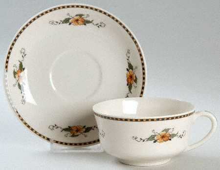 Vintage Syracuse China Old Ivory Chiquita Cup & Saucer - Set of 2