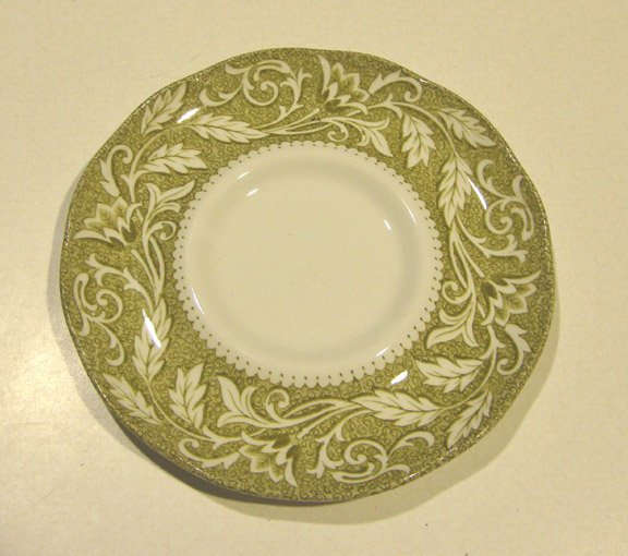 Vintage J & G Meakin Renaissance Green Saucer only (no cups) - Set of 5