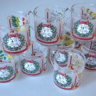 Vintage 1985 Luminarc Christmas by Carlton 12 Days of Christmas Replacement Glass Mug
