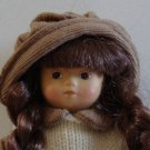 "Ethnic Folk Homespun Doll 9"" - Vinyl and Fabric"