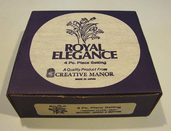 Creative Royal Elegance Fine China Japan 4 Piece Place Setting MIB