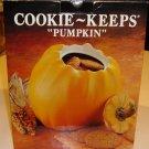 Vintage Over & Back Inc. Ceramic Pumpkin Cookie Keep - Portugal MIB
