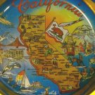 Vintage Colorful Souvenir California Metal Tray Coaster