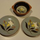 Vintage Stangl Golden Harvest Lugged Soup Bowl and 2 Bread / Butter Plate