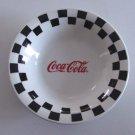 Vintage Gibson Coca Cola Black Check Cereal Soup Bowls -  Set of 4