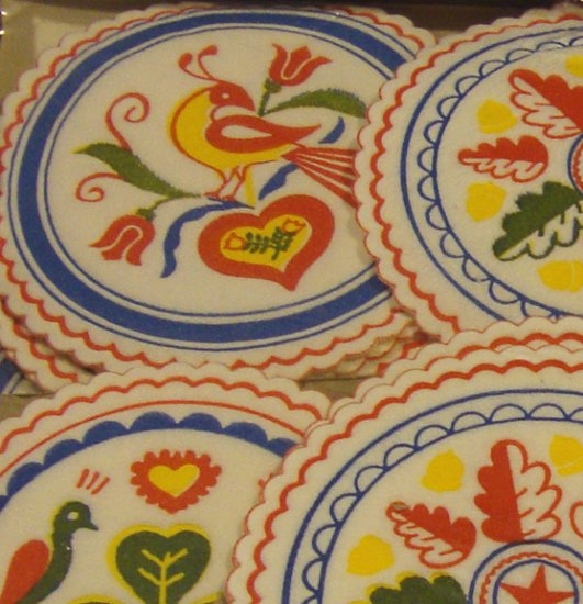 Vintage 60 Pennsylvania Dutch Paper Coasters - Garden Spot Gifts