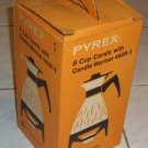 Vintage Pyrex 8 Cup Carafe with Candle Warmer Model 4608-1 MIB