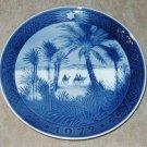 """Vintage Royal Copenhagen Christmas Plate 1972 """"In the Desert"""" MIB"""